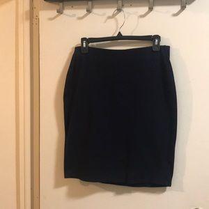 Old navy navy pull up office skirt